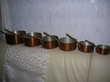 2 pots en laiton+ 5 vases cuivre+ 6 casseroles cuivre Décoration