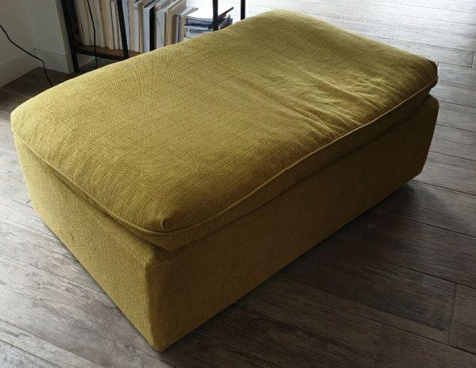 Pouf jaune moutarde 80 Allinges (74)