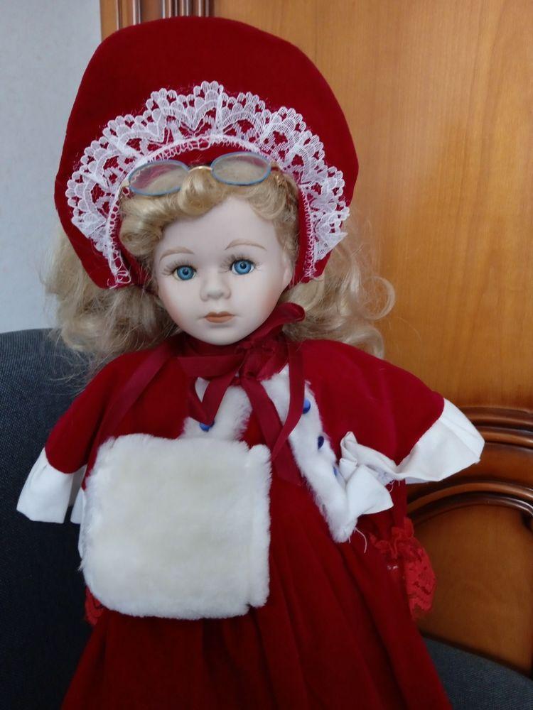 poupée porcelaine 41cm  en trés bon état  10 Le Coudray (28)