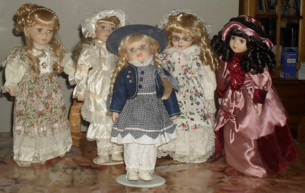 Lot de 5 poupées de collection hauteur 40 cm 75 Montreuil (93)