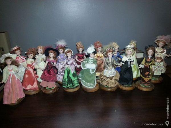 16 poupées en porcelaine 20cm 80 Coutiches (59)