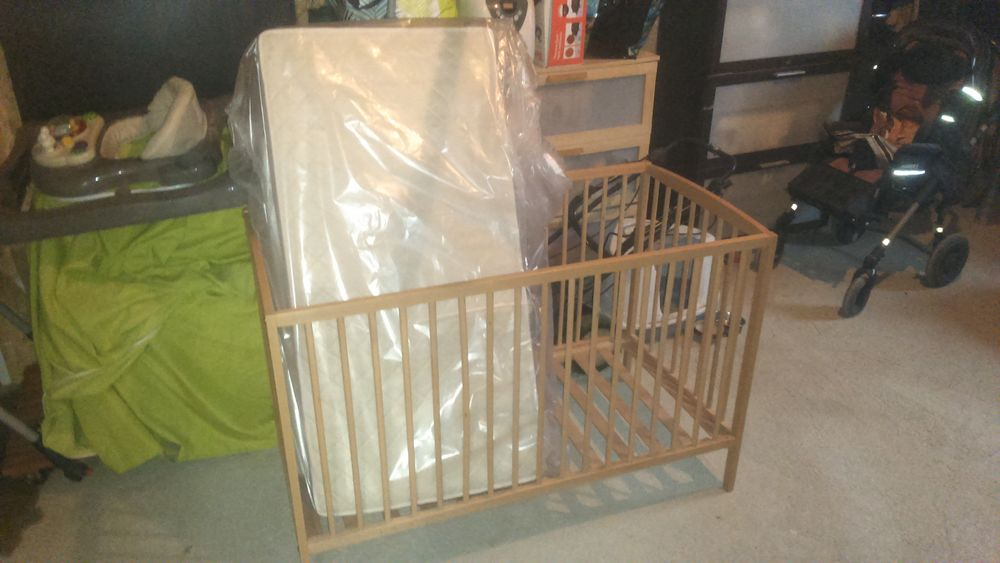 lit pour bébé avec matelas 60 Sainte-Radegonde (12)