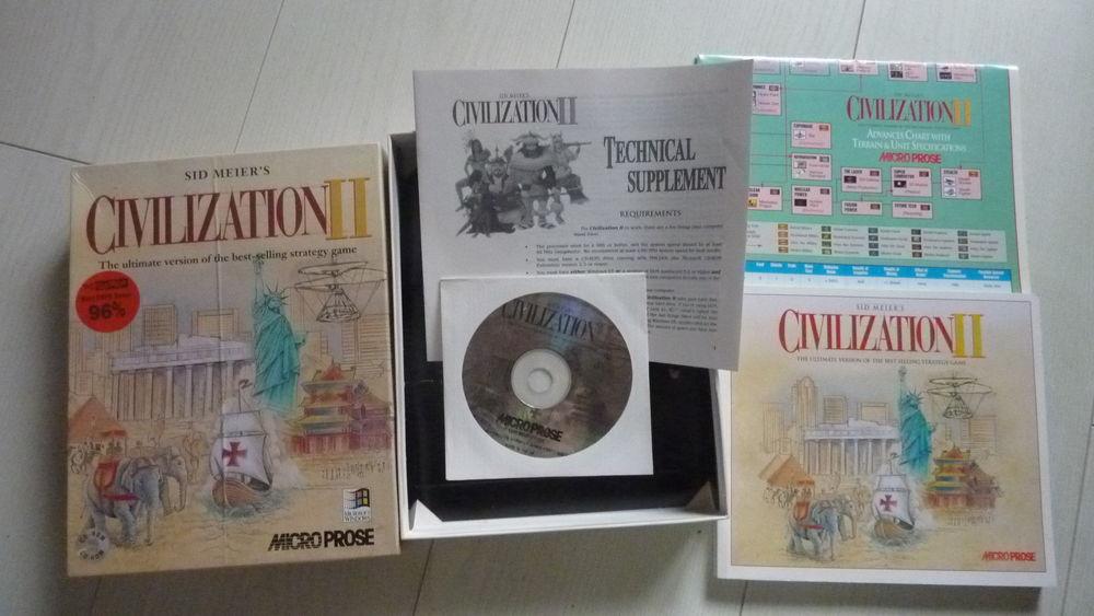 Jeu pour PC -  CIVILIZATION  -- avec disquettes 45 Plaisir (78)
