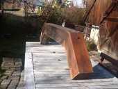 Poutre en bois pour bandeau de cheminée ou barbecue 50 Aix-les-Bains (73)