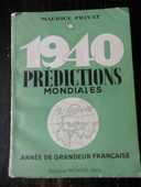 PRÉDICTIONS MONDIALES  de MAURICE PRIVAT . 1940 7 Tours (37)