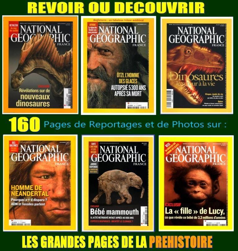 PRÉHISTOIRE - national géographic - HISTOIRE 20 Lille (59)