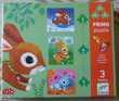PRIMO PUZZLE 3 PUZZLES LAPINS SJECO SERVI 2 FOIS COMME NEUF