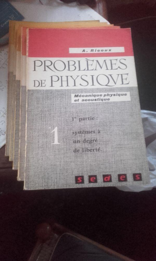 PROBLEMES DE PHYSIQUE 5 TOMES SUR 5 DE A. RICOUX 150 Paris 13 (75)