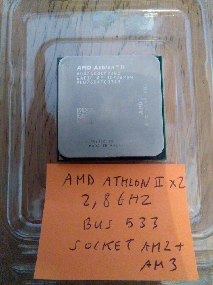 Processeur AMD Athlon II x2 2,8Ghz Bus 533 Socket AM2+ AM3 Matériel informatique