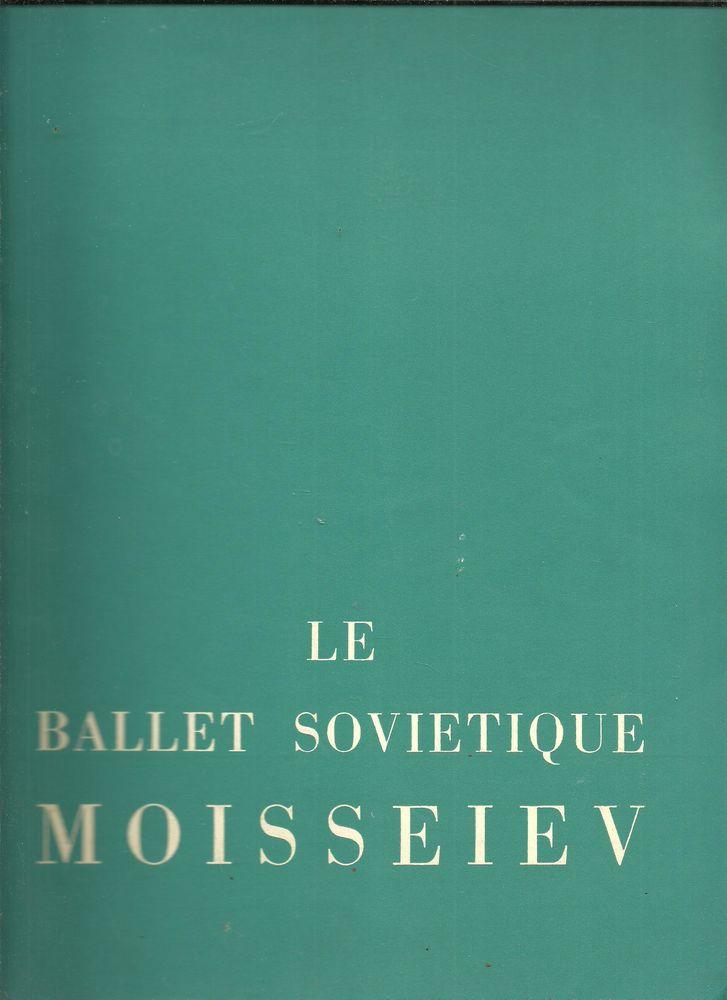 Programme LE BALLET SOVIETIQUE MOISSEIEV, spectacle octobre 1955 Théâtre national du Palais de CHAILLOT Livres et BD