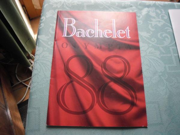 PROGRAMME CONCERT PIERRE BACHELET 1988