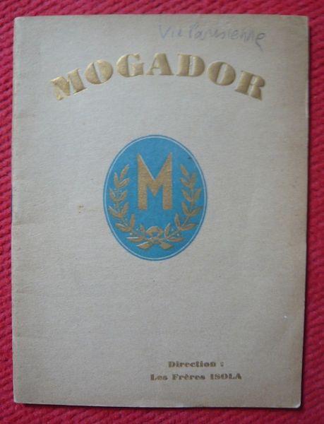 Programme du Théâtre Mogador saison 1931 ? La vie parisienne 40 Sucy-en-Brie (94)