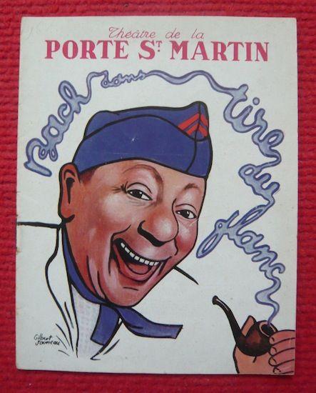 Programme du Théâtre de la Porte Saint-Martin 1947  40 Sucy-en-Brie (94)