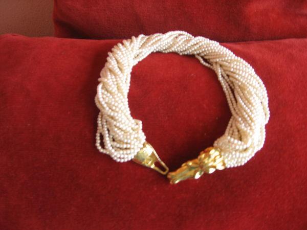 Propose superbe collier torsadé - fermeture têtes de cheval 15 Hyères (83)