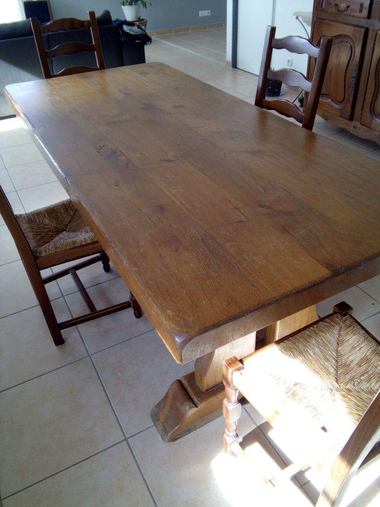 Propose table en bois brut 550 Beauvoisin (30)