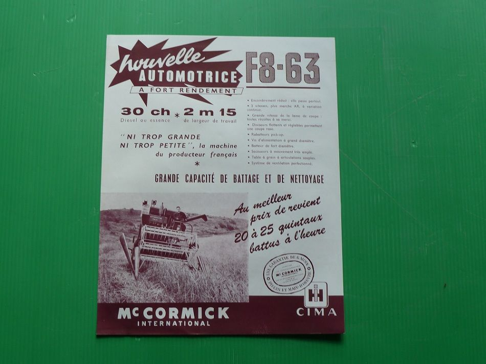 Prospectus Mac CORMICK MB F8-63 1959 0 Marcilly-le-Hayer (10)