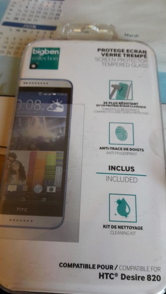 Protège-écran en verre pour HTC Desire 820 5 Mouguerre (64)