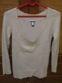 pull blanc cassé longues manches  0 Mérignies (59)