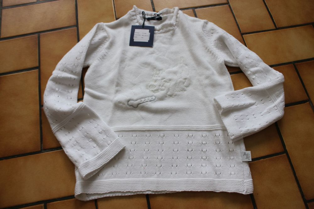 Pull blanc milou 6 ans neuf 25 Wervicq-Sud (59)