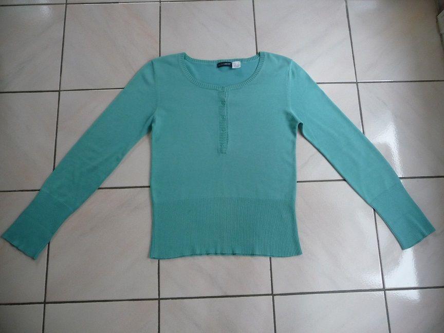 Pull bleu aqua manches longues taille 36 10 Montigny-le-Bretonneux (78)