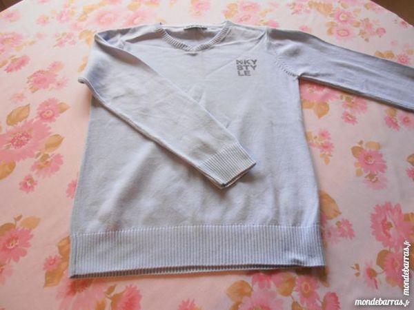 Pull NKY bleu ciel (V7) Vêtements enfants