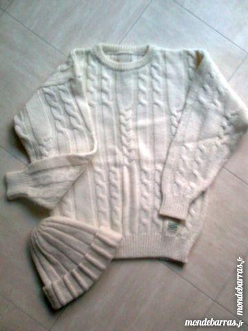 pull et bonnet beiges en laine - 40/42 - zoe 4 Martigues (13)