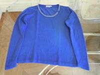 Pull femme bleu roi taille 38/40 Vêtements