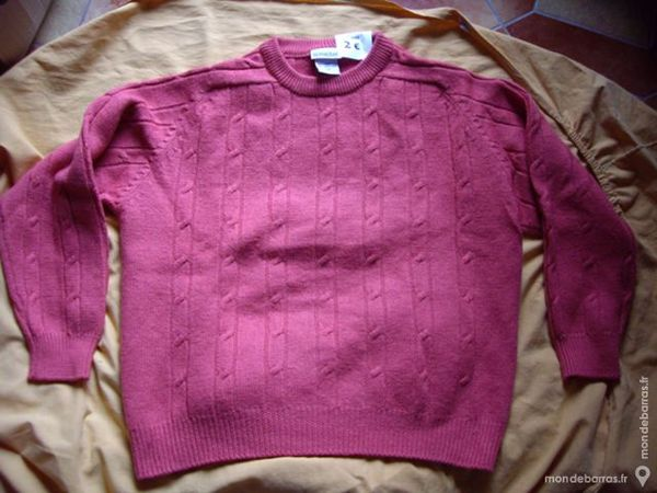 PULL Homme Vieux Rose  Phildar  Taille 4 à 2 € 2 Bouxwiller (67)