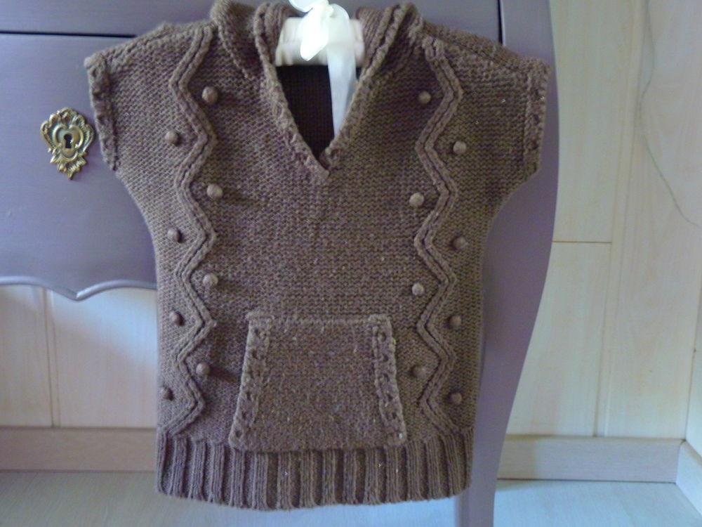 pull laine marron capuche fille 4 ans okaidi 3 Brienne-le-Château (10)