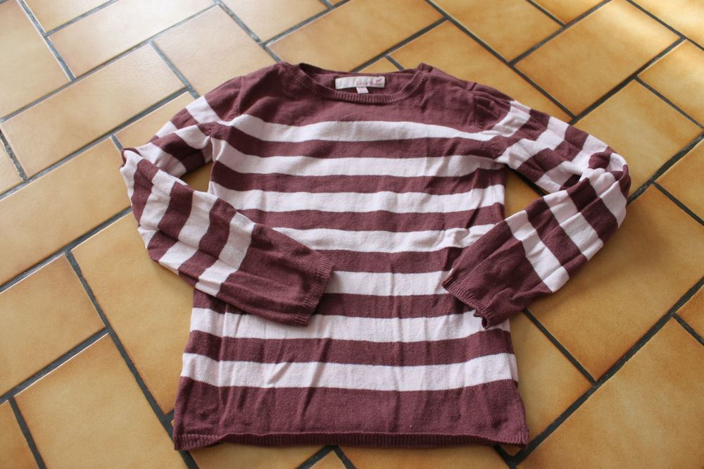 Pull rayé lisa rose 6 ans maux et rose 5 Wervicq-Sud (59)
