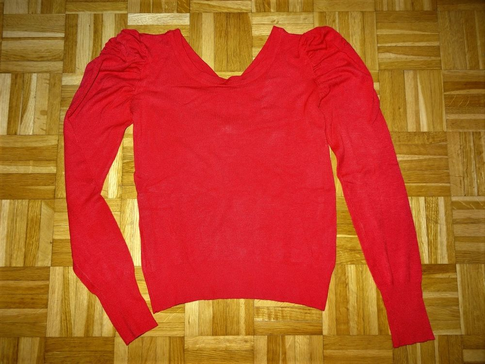 Pull rouge noeuds noirs 7 Marseille 10 (13)