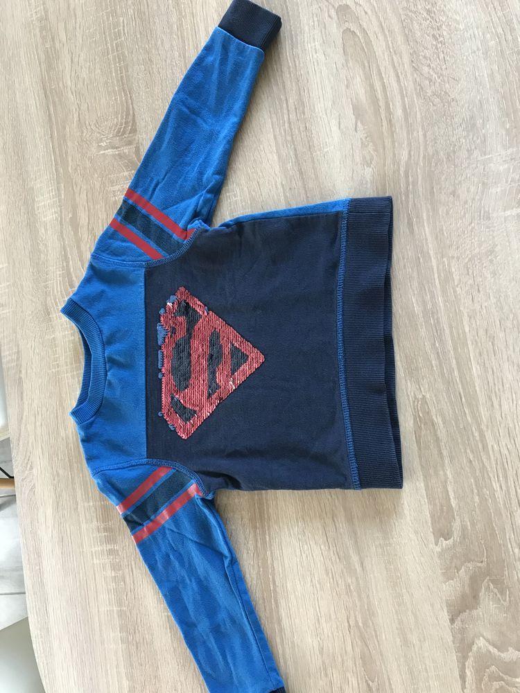 pull superman paillettes sequins bleu et rouge 4 Nohanent (63)