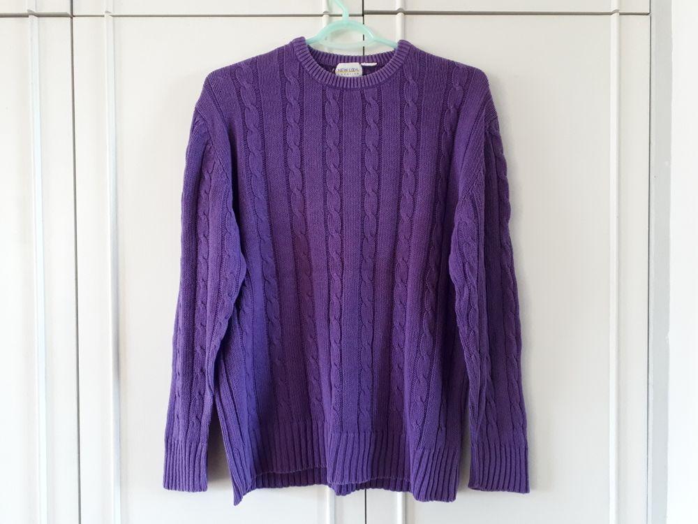 Pull à torsades violet  - 40/42 10 Villemomble (93)