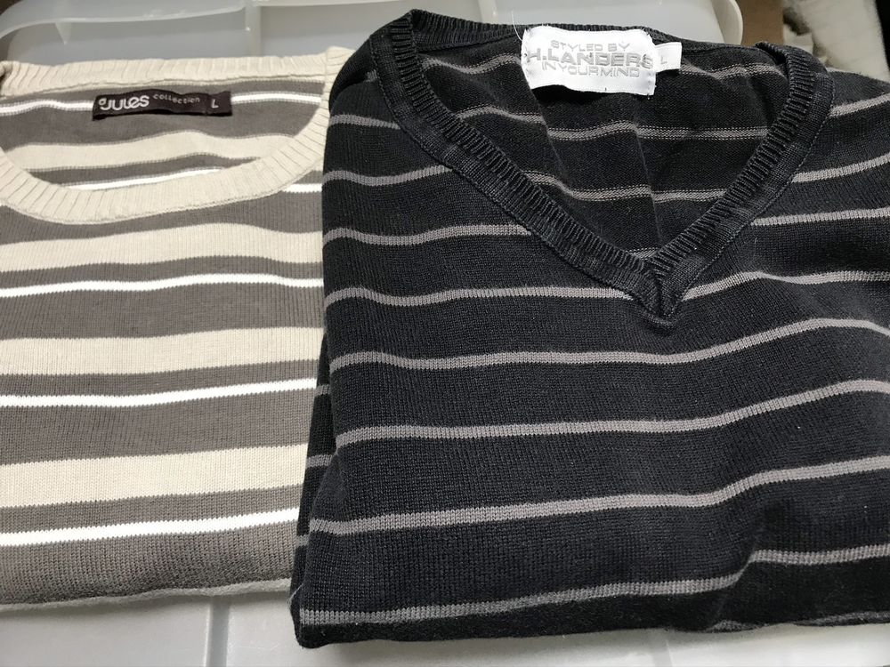 2 pulls raye  homme taille L. DIVERSES MARQUES 7 Saint-Genis-Laval (69)