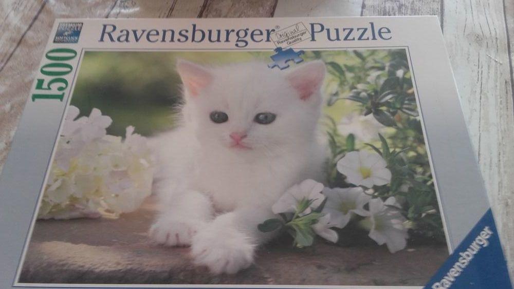 Puzzle 1500 pièces chaton de ravensburger 15 Montfort (04)