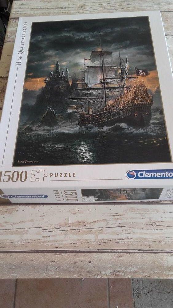 Puzzle 1500 pièces bateau de pirate 15 Montfort (04)