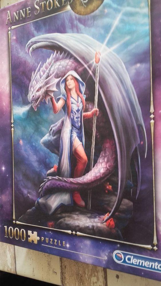 Puzzle anna stokes collection dragon mage 1000 pièces 10 Montfort (04)