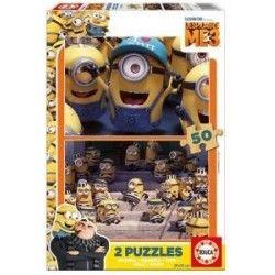 Puzzle bois Minion boite de 2x50 pieces Jeu Educa 16 Lestrem (62)