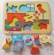 Puzzle encastrement bois 7 animaux JANOD Jeux / jouets