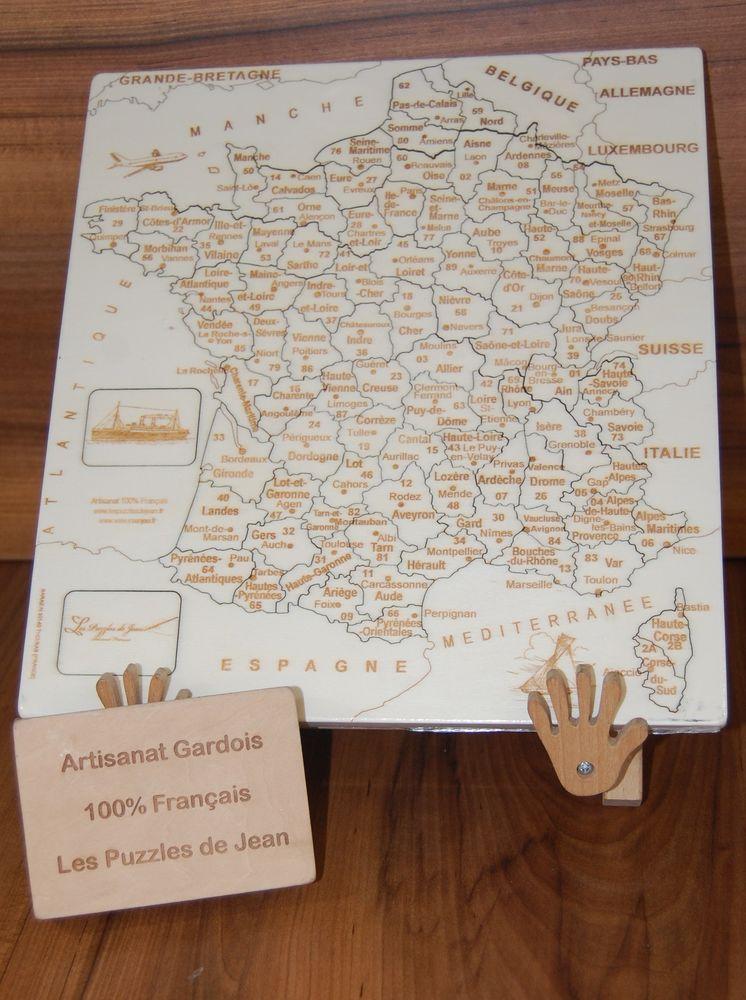 Puzzle France Artisanal fabriqué dans le Gard 30 Villeurbanne (69)