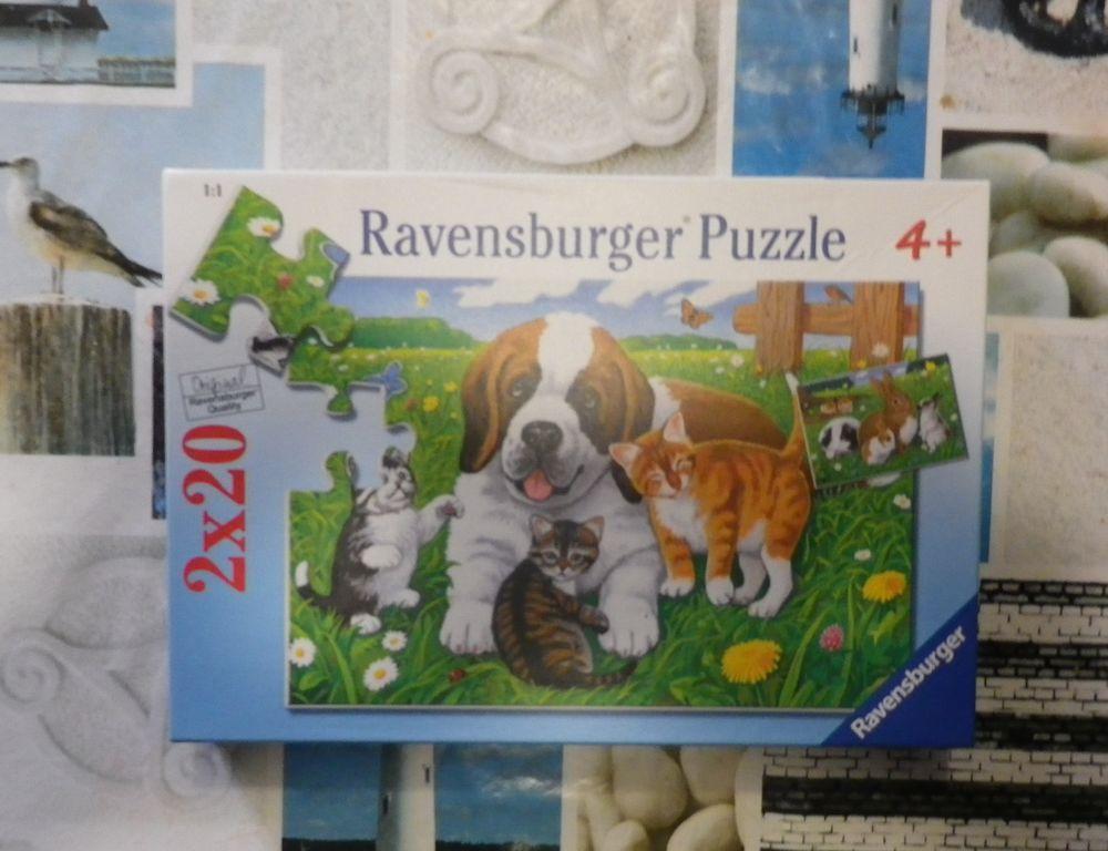 2 PUZZLES ANIMAUX 20 PIECES 4 ANS ET PLUS RAVENSBURGER 3 Bubry (56)