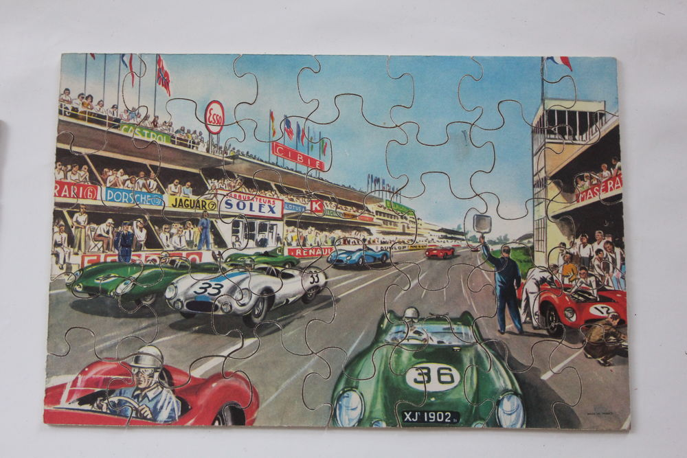 Lot de 6 puzzles en bois année 60 20 Issy-les-Moulineaux (92)