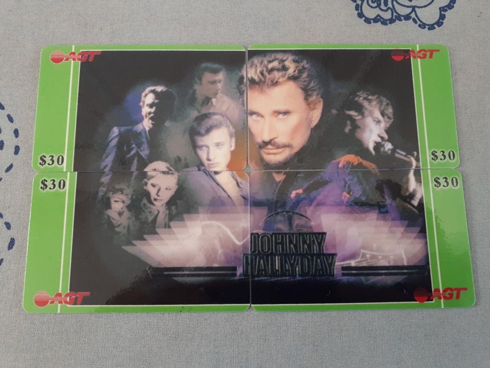 3 puzzles de télécartes Johnny Hallyday RARES et NEUFS - 30 euros