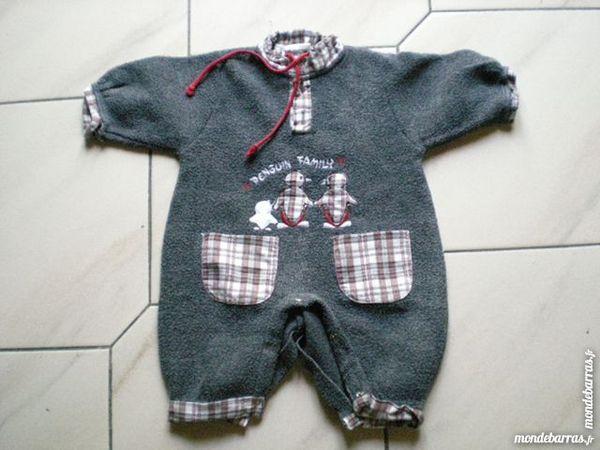 Pyjama bébé gris 3 Saleilles (66)