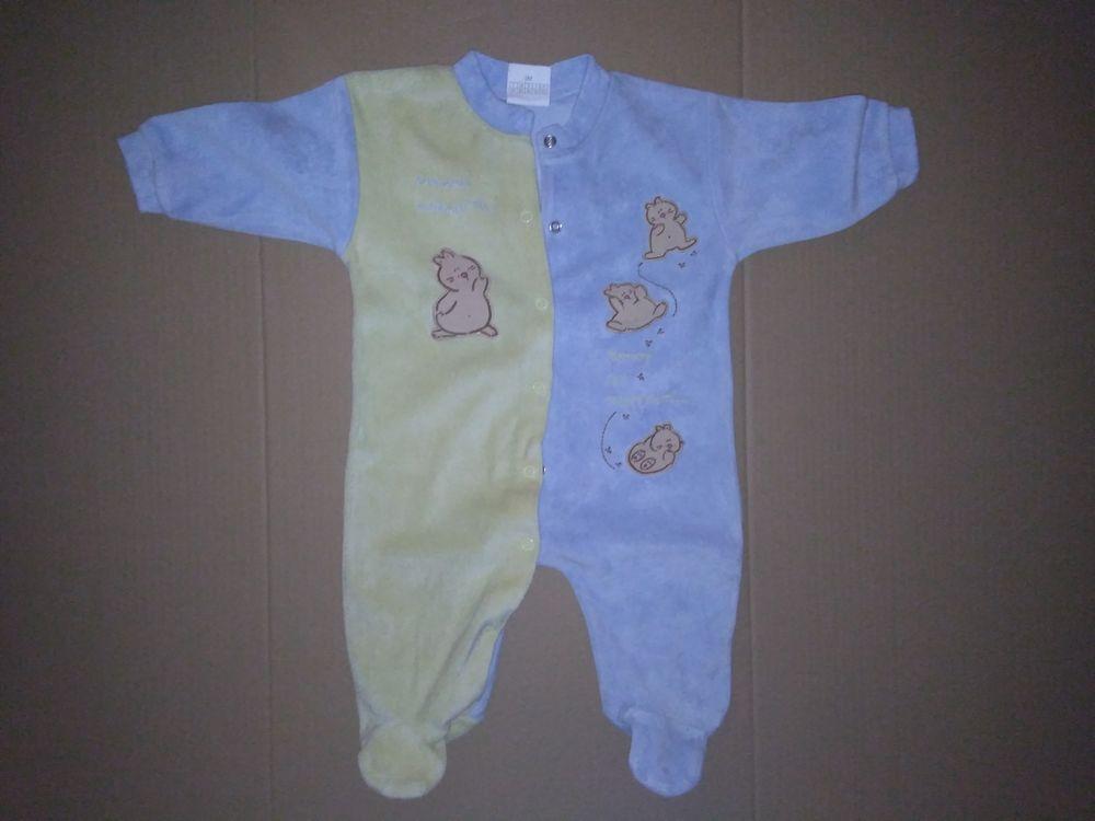 Pyjama maman marmotte bleu/jaune 3 mois 3 Semoy (45)