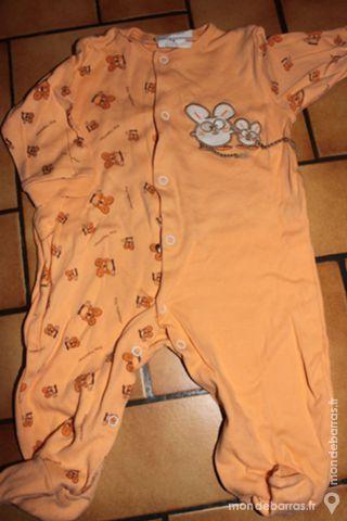 Pyjama orange 3 mois 4 Wervicq-Sud (59)