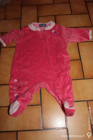 Pyjama rose vif 3 mois 6 Wervicq-Sud (59)