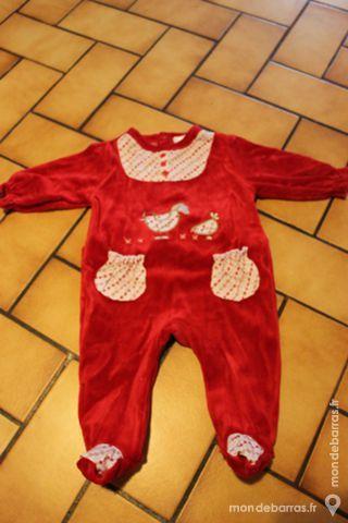 Pyjama rouge 3 mois 8 Wervicq-Sud (59)