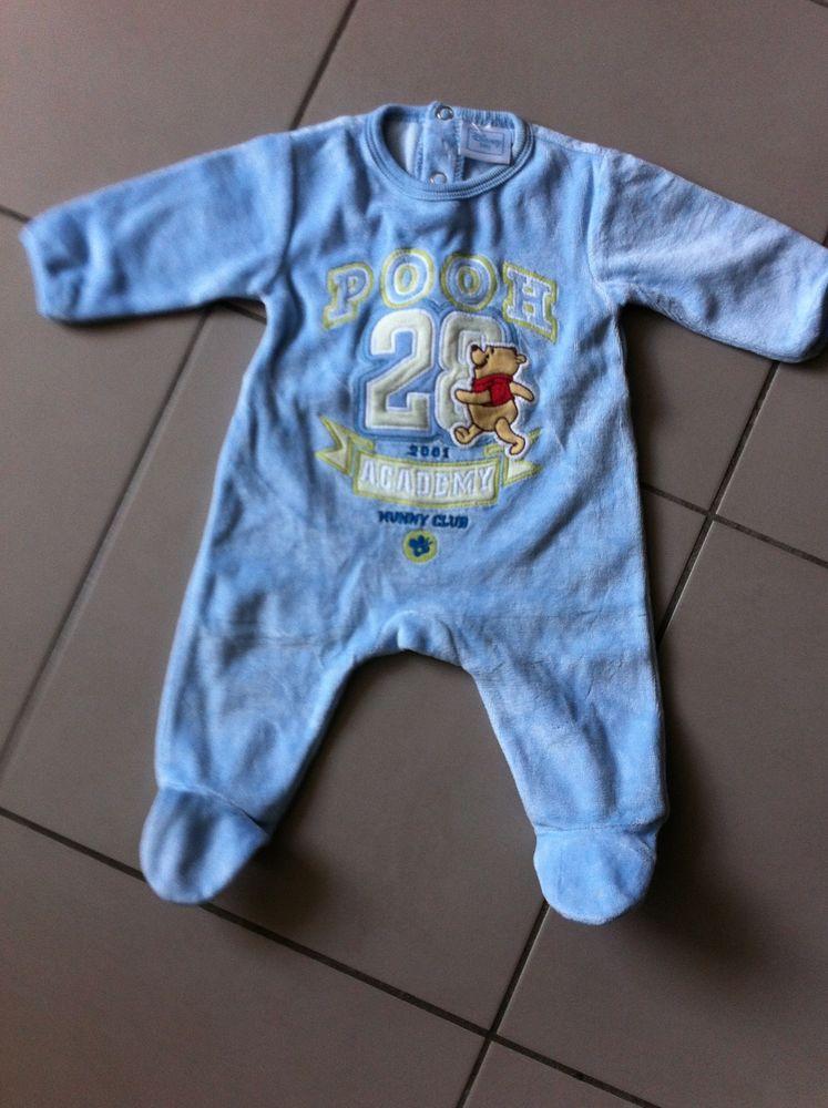 G/A Pyjama velours bleu ciel Winnie Vêtements enfants