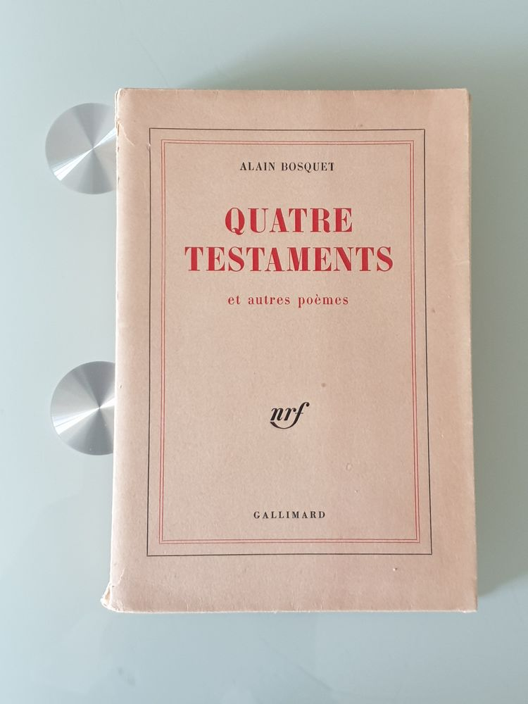 Quatre Testaments et Autres Poèmes - alain bosquet numéroté  10 Marseille 9 (13)